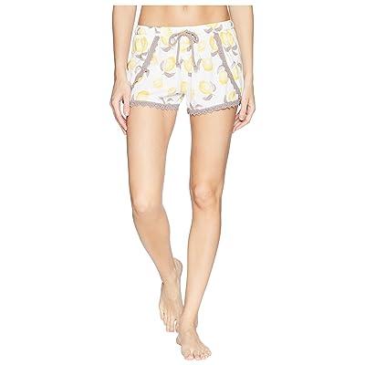 P.J. Salvage Playful Prints Lemon Shorts (Ivory) Women
