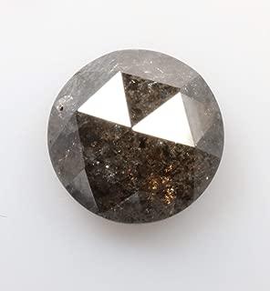 1.22 ct 6.5 mm Natural Loose Diamond Salt and Pepper Black Color Beautiful Round Rose Cut Diamond R4033