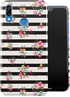 DODOX Vintage Floral Wild Flowers Lines Pattern Indie Tumblr Case Compatible with Huawei P20 Lite Snap-On Hard Plastic Protective Shell Cover Carcasa