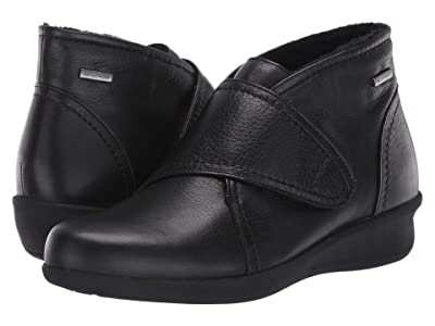 Aravon Fairlee Instep Strap Waterproof (Black Leather) Women