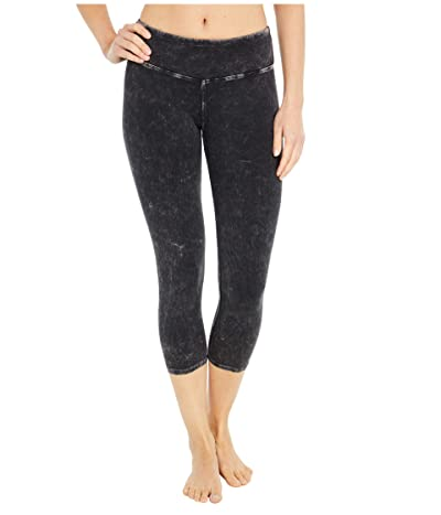Hard Tail Flat Waist Capris (Mineral Wash # 6) Women