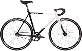 State Bicycle Co. - The Undefeated II - Black & White Edition - 7005 Aluminum Premium Fixed Gear Track Bike