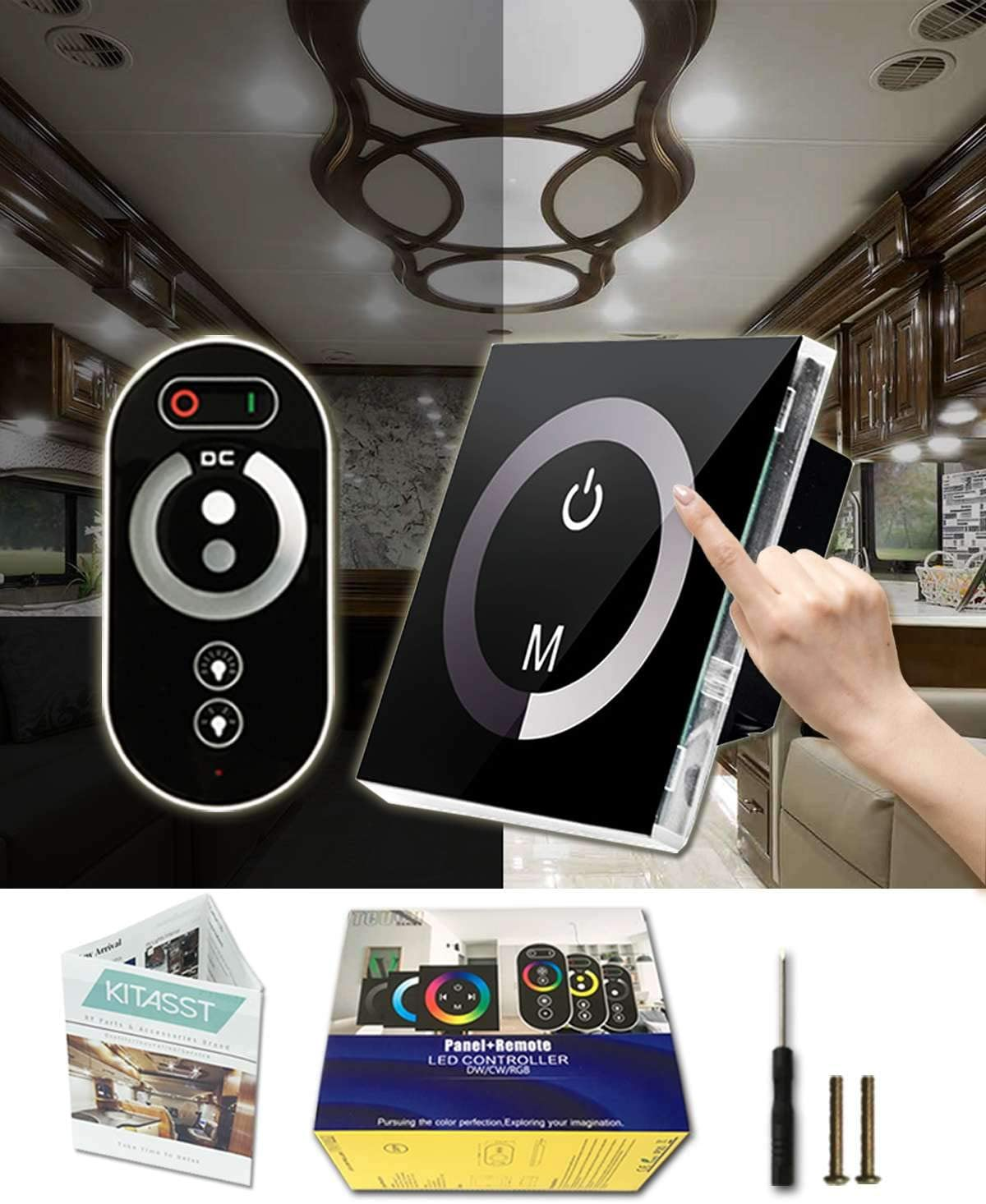KITASST Touch LED Dimmer Max 78% OFF Switch 12V for Remote with Control 24V free