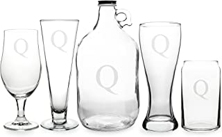 Cathy's Concepts Personalized 5pc Party Glassware Set, Letter Q