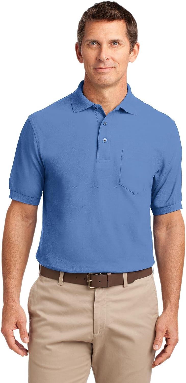 XtraFly Apparel Men's Tall Silk Touch Polo Shirt with Pocket TLK500P