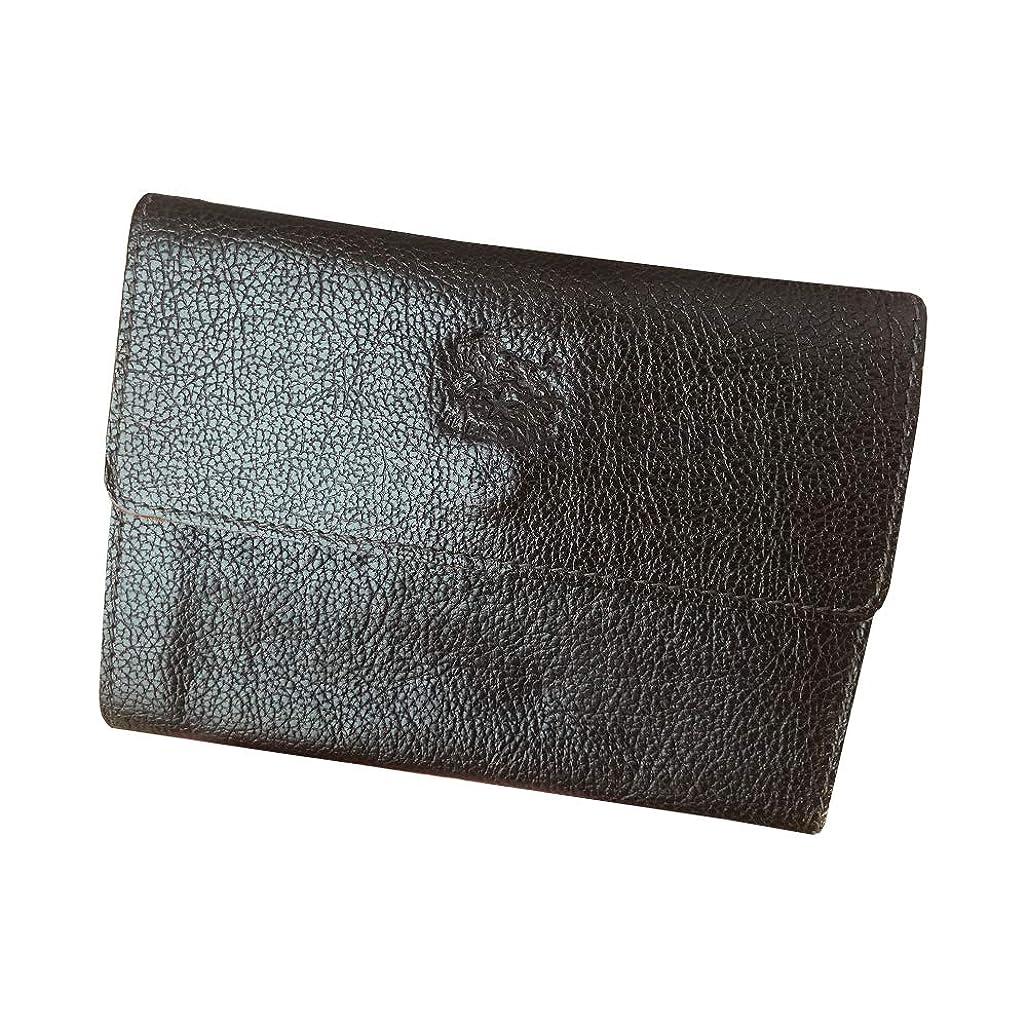 北方椅子パドルイルビゾンテ IL BISONTE 二つ折り財布 C0596/MP 牛革(専用箱なし)