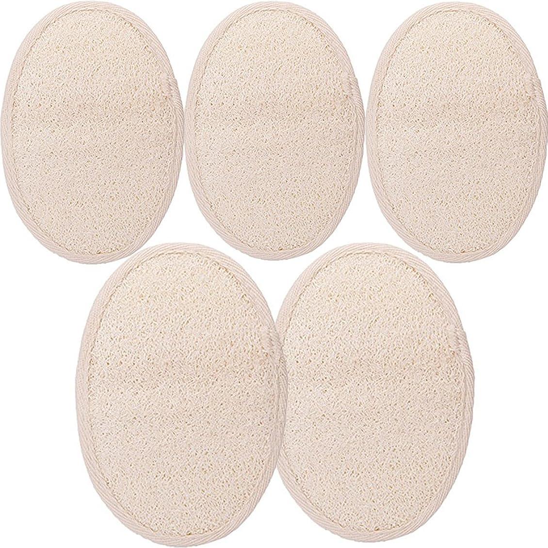 ペダルダブル印象的シャワー ベルト 天然ヘチマ お風呂用 背中も洗える 血行促進 角質除去 (SGP1-A-5PCS)