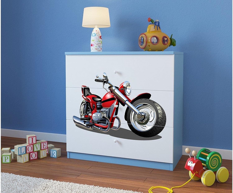 promociones emocionantes CocheELLIA Cómoda Infantil Moto Moto Moto 3cajones Azul  precios razonables