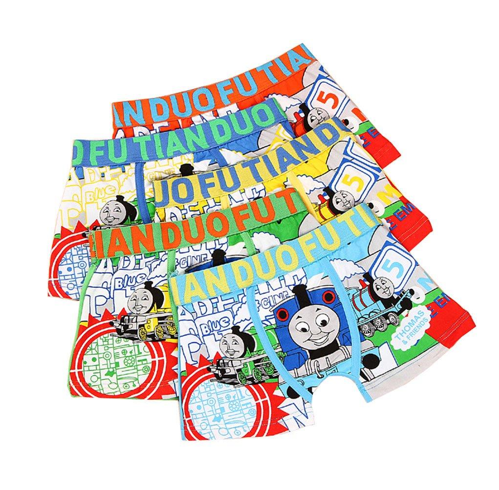 2-8 Years Boys Cotton Pattern Boxer Briefs Cartoon Character Underwear Multipack