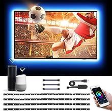 Lepro 2m led strip, Wifi led tv-achtergrondverlichting, Smart RGB ledstrip, geschikt voor 40-60 inch tv's en pc's, app-bed...