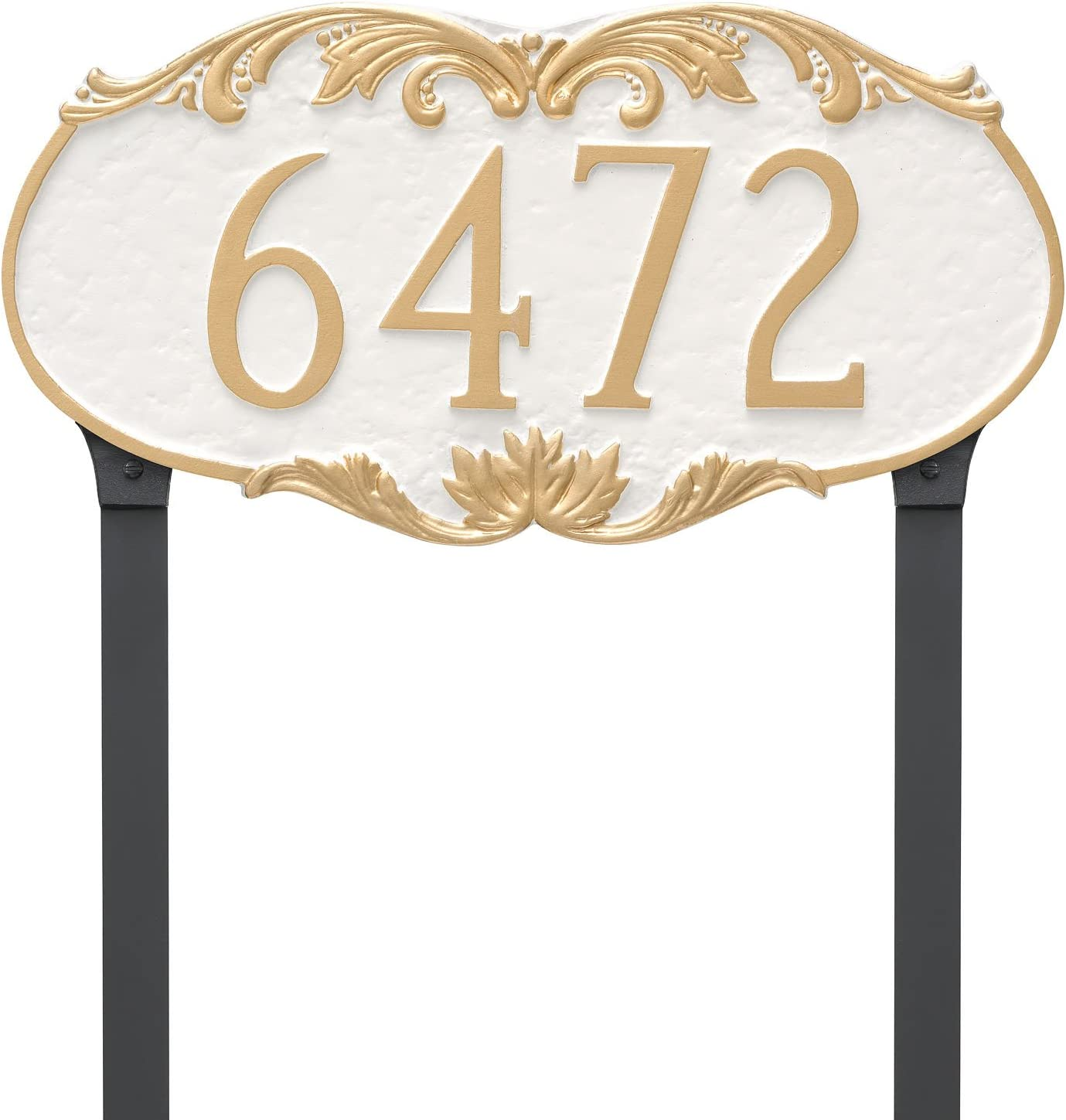 Montague Metal Ranking Max 44% OFF TOP4 Charleston Address Sign Plaque Stakes Lawn with