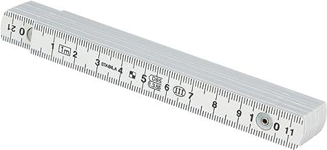 wei/ß metrische Skala STABILA Kunststoff-Gliederma/ßstab Type 1107 2 m