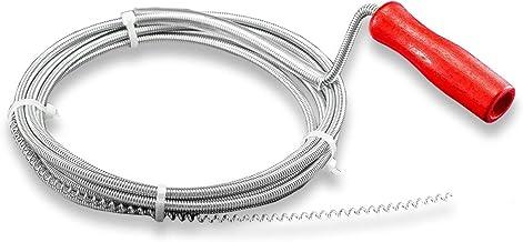 Nirox Desatascador de desagües 3m x 5mm - Desatascador espiral manual ideal para quitar el pelo de los desagües - Desatasc...