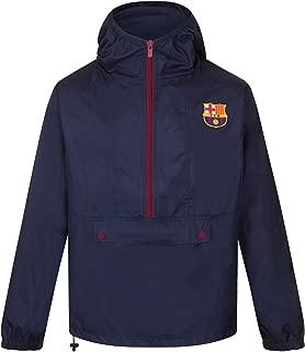 FC Barcelona Official Gift Mens Half Zip Shower Jacket Windbreaker Small