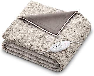 Beurer HD 75 mysig nordisk uppvärmd filt, bekväm elektrisk päls-filt med 6 temperaturinställningar, maskintvättbar, med au...