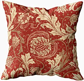 Shorping Navy Floral Pillow, Zippered Pillowcases 20X20Inch Throw Pillow Covers Modern Fabric Design Pattern Floral for Home Sofa Bedding