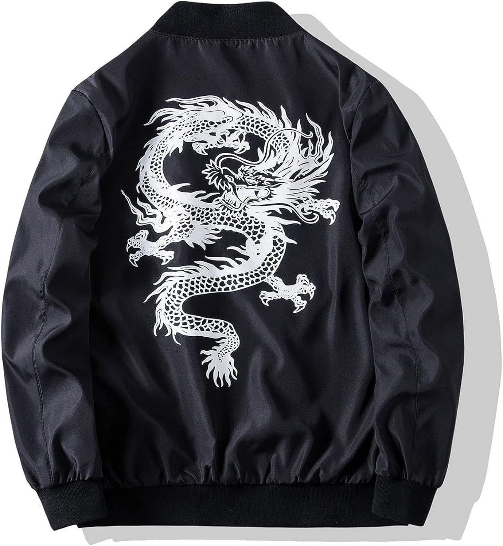 Men's Solid Printed Jackets With Pocket, Animal print Modern jacket V306