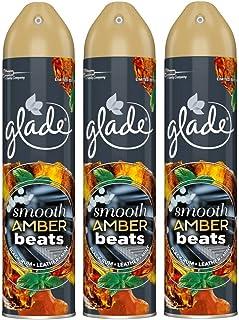 Glade Lot de 3 sprays désodorisants automatiques parfum ambré 300 ml