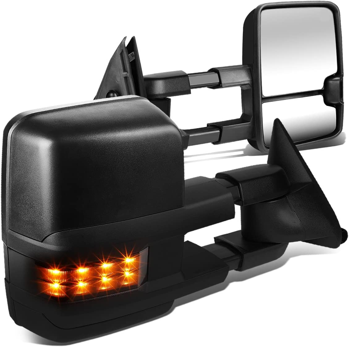 100% quality Sales for sale warranty Pair Powered Glass Telescoping Smoked Turn LED Signal Towin Side