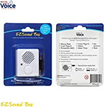 EZSound Box - Light Sensor Activated for Musical Boxes, Hobbies, Personalized Items, Model Makers, etc - 200 seconds - Rerecordable thru Audio Port