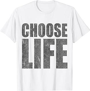 Choose Life Pro-Life T-shirt rétro années 80 T-Shirt