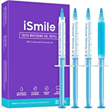 iSmile Teeth Whitening Gel Syringe Refill Pack - (3) 3ml Whitening Gel Syringes, (1) Remineralization Gel Syringe, No Sensitivity, Premium Quality, Use with LED Light and Trays