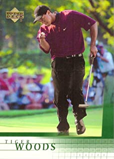tiger woods upper deck rookie card