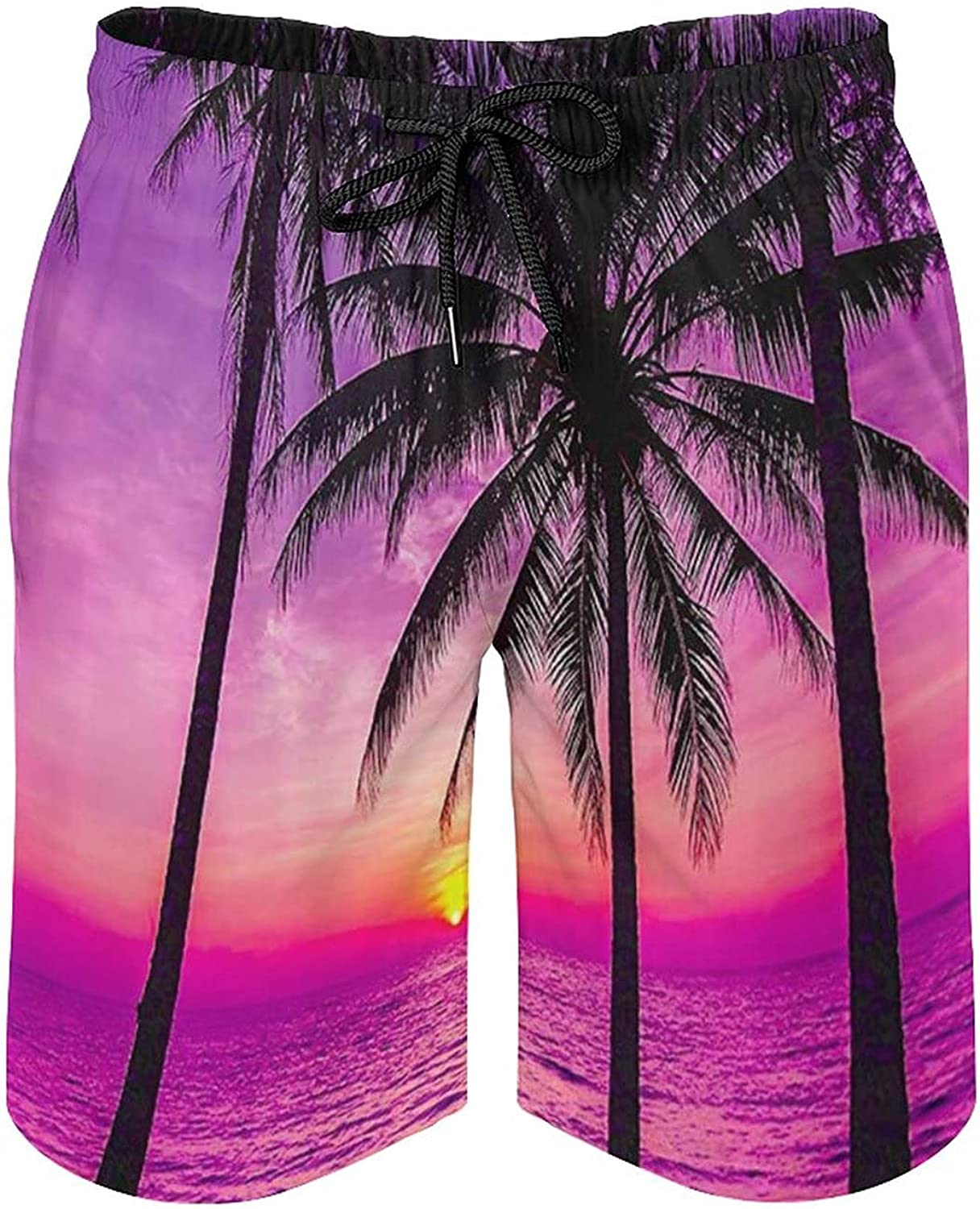 DQRIFGL Summer Beach Shorts Swim Trunks Quick Dry Surfing Bathing Suits Board Shorts with Mesh Lining