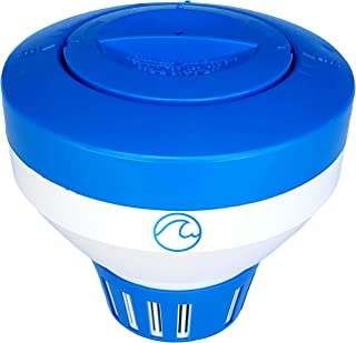 Cclear Pool Supply Pool Chlorine Floater for Chlorine Tablets 3 inch, Durable Pool Chlorine Tablet Floater, Chlorine Dispenser, Floating Chlorinator, Chlorine Float, Chemical Holder