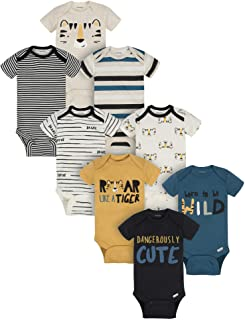 baby-boys 8-pack Short Sleeve Mix & Match Bodysuits