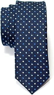 Retreez Vintage Three-Colour Polka Dots Woven Skinny Tie Necktie - 5 Colors