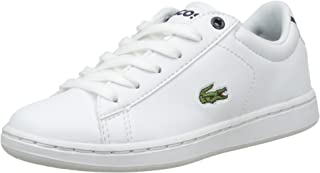 Lacoste Children's Carnaby EVO BL 1 Kids Fashion Shoes, WHT/NVY
