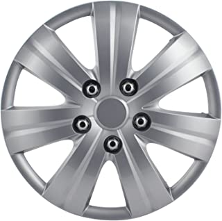 Pilot WH523-16S-BX Universal Fit Honda Civic Style Matte Silver 7-Spoke 16 Inch Wheel Covers - Set of 4