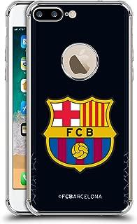 Official FC Barcelona Goalkeeper Black 2017/18 Crest Kit Silver Shockproof Fender Case Compatible for iPhone 7 Plus/iPhone 8 Plus