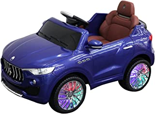 HONEY JOY Ride On Car, Licensed Maserati Battery Powered Vehicle for Kids, Parental Remote Control & Manual Modes, 3 Speeds, Swing Function, Bluetooth, USB, MP3, Horn, Music, LED Lights (Blue)