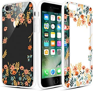Caka iPhone 6 Case, iPhone 6s Clear Floral Case Flower Pattern Floral Series Slim Girly Anti Scratch Excellent Grip Premium Clarity TPU Crystal Case for iPhone 6 iPhone 6s 4.7 inch (Orange Floral)