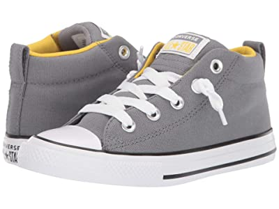 Converse Kids Chuck Taylor(r) All-Star(r) Street Moon Seasons Mid (Little Kid/Big Kid) (Cool Grey/Vivid Sulfur/White) Boys Shoes
