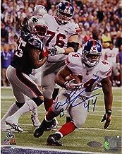 NFL New York Giants Ahmad Bradshaw Super Bowl XLVI Game Winning TD Fall into Endzone Signed Vertical Photograph
