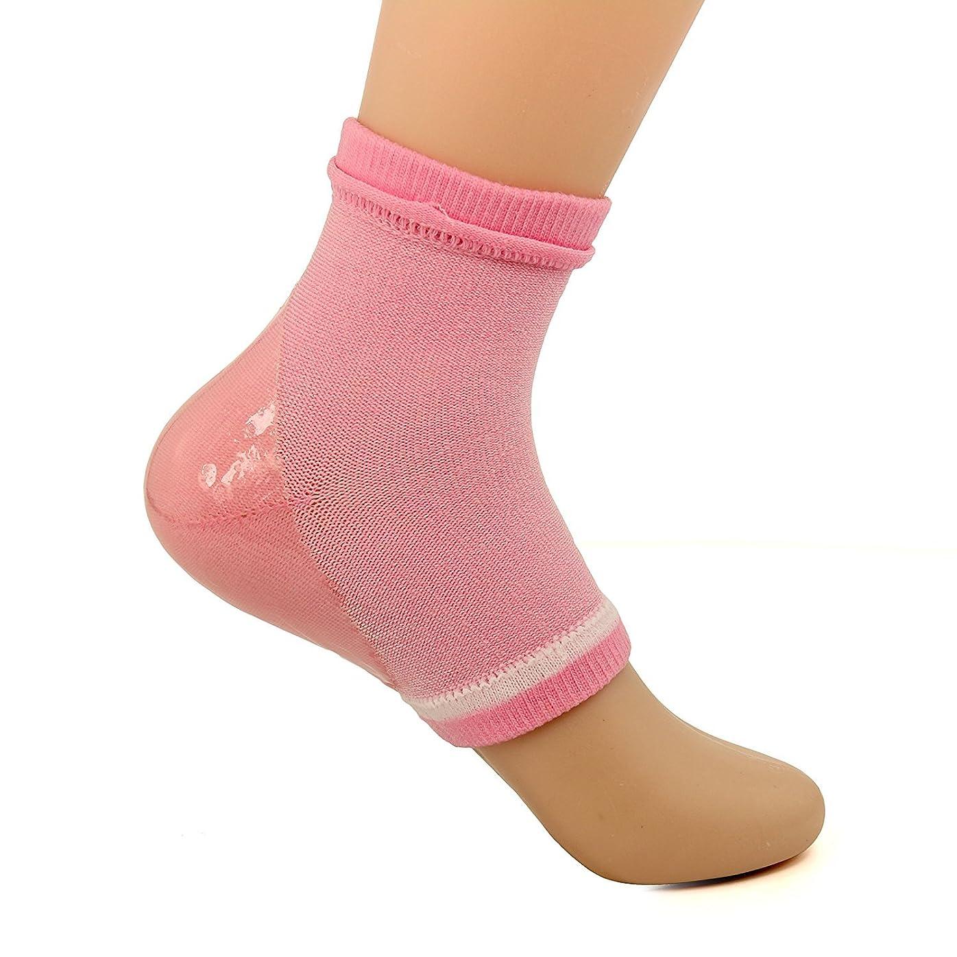芽マニアむしろDr. Pedi spaジェルソックス かかとケア 保湿シート うるおい シリコン 保湿フリーサイズ 1セット (ピンク))