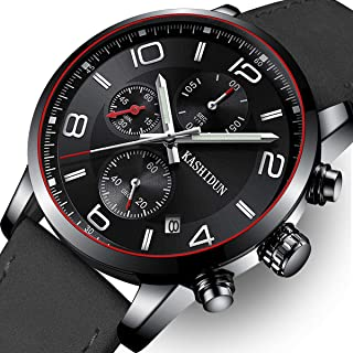 OLMECA Mens Watch Luxury Sports Military Wristwatches Chronograph Calendar Date Quartz Waterproof Watches for Women Relojes