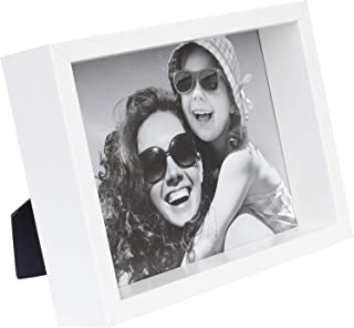 BD ART 4x6 inch White Box Picture Frame - Hanging and Standing Display