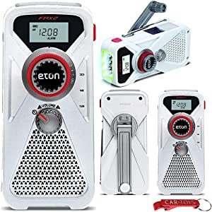 Eton FRX2 Family Emergency Preparedness 4-Pack Bundle: Hand Turbine AM/FM/NOAA Weather Radios with USB Smartphone Chargers and LED Flashlights, Severe Weather or Disaster Readiness Essential Multitool