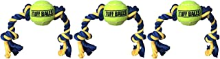 PetSport 3 Pack of Mini Tuff Ball Tug Dog Toys, 9 Inch, Braided Rope with Dog-Safe Tennis Balls