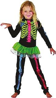 Child Skeleton Girl Halloween Costume 10 - 12 Yrs