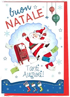 Busta 9x14cm 5Pz Kartos Biglietto Auguri Buon Natale e Buon Anno