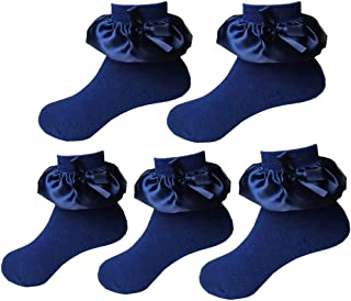 Baby Girl's Cotton Socks Lace Ruffle Frilly Princess Style Socks