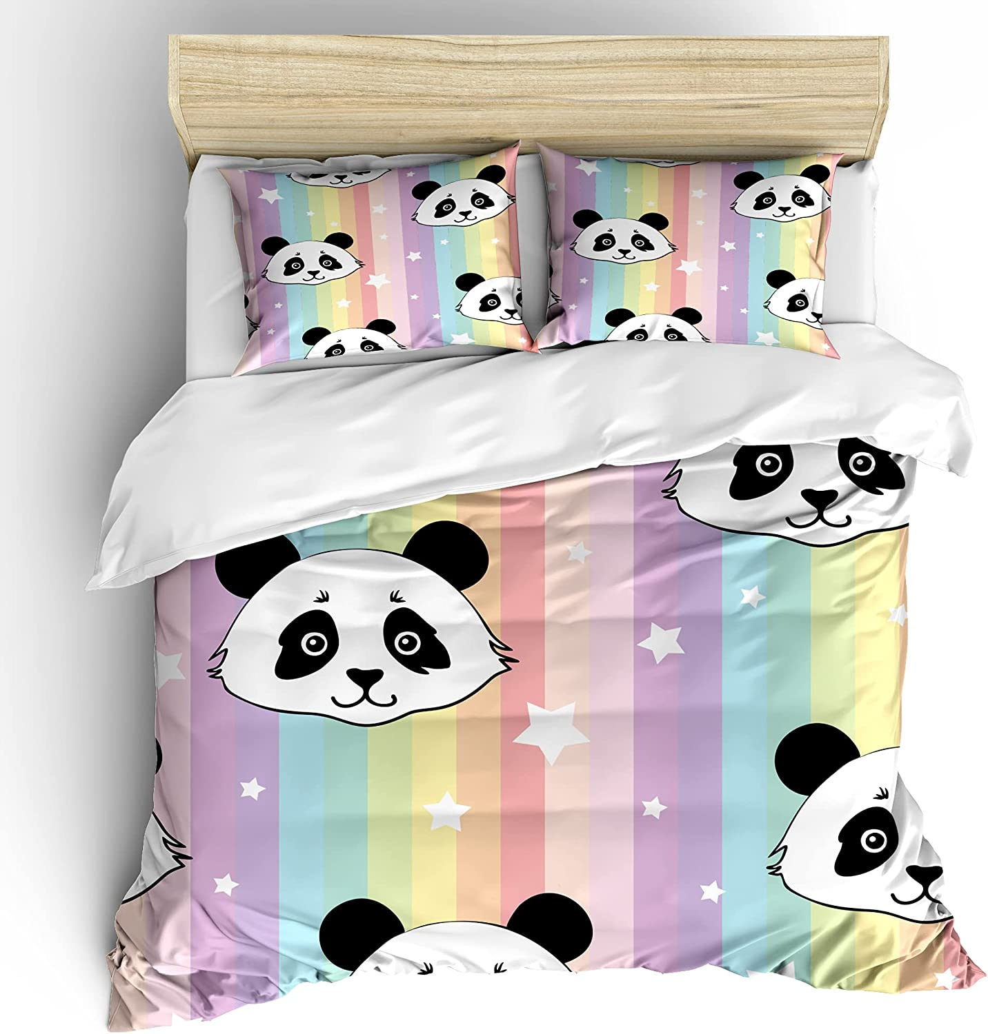 Ormis Cute Panda Seamless Pattern Surprise price King Comforter 3 Size NEW before selling Cover Pi