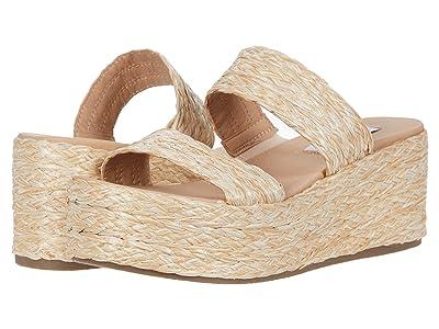 Steve Madden Jolted Wedge Sandal (Natural Raffia) Women