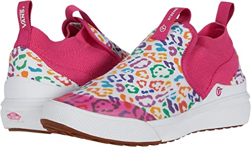 (Rainbow Leopard) Fuchsia Purple/True White