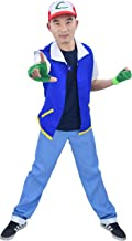 DAZCOS US Size Adult Anime Monster Trainer Cosplay Costume with Cap Gloves